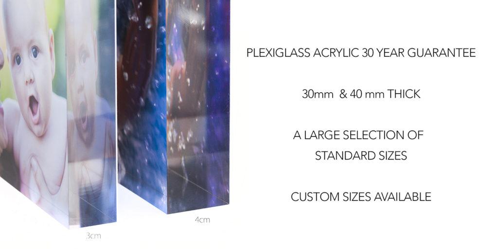 Acrylic Block Sizes